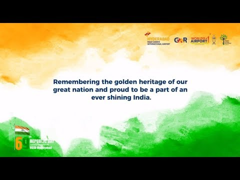 69th Republic Day celebrations at Hyderabad Airport
