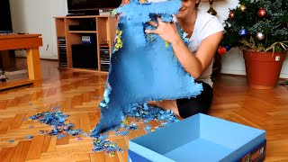 Taking apart a 9000 pc puzzle - Underwater Paradise