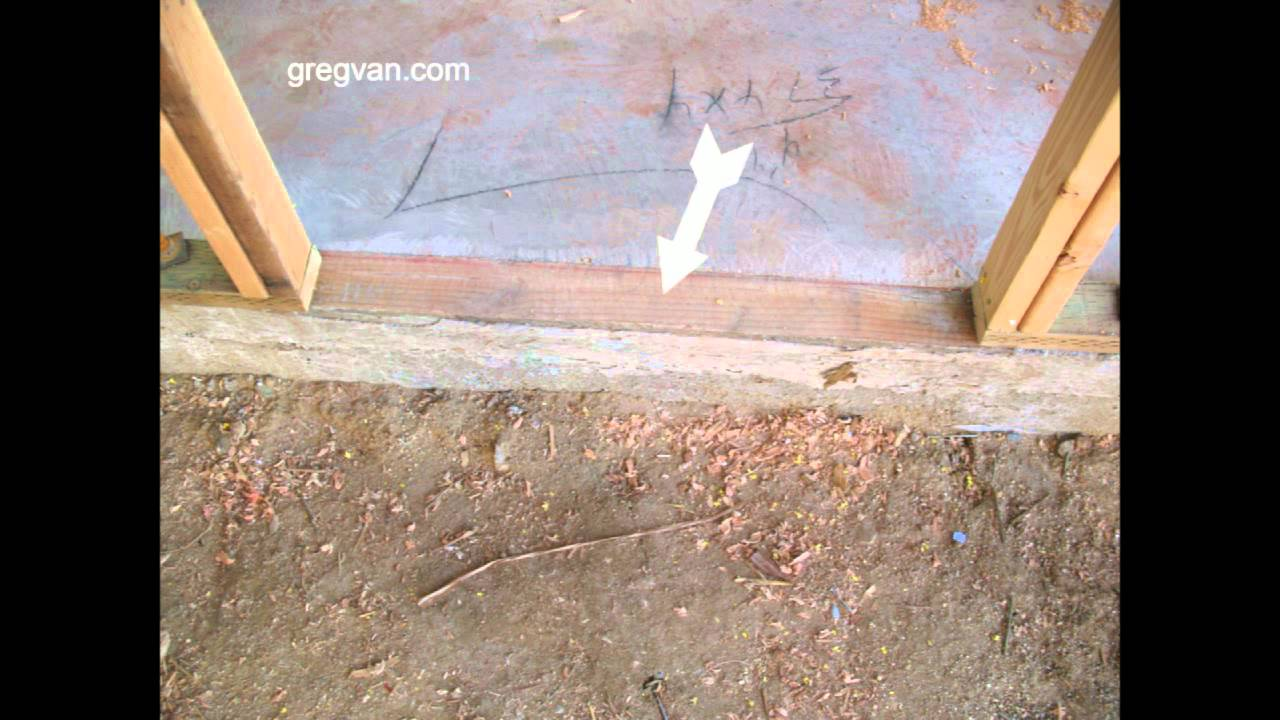 Problems with lumber in concrete foundations for easy door - How to install a prehung exterior door ...