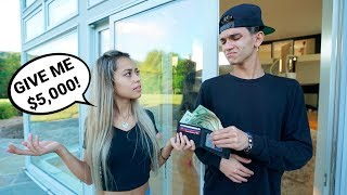 GOLD DIGGER PRANK ON BOYFRIEND!! (almost broke up)
