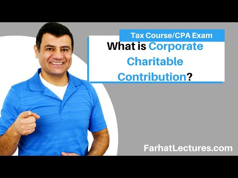 Corporate Charitable Contribution   Corporate Tax Course   CPA Exam Regulation   TCJA 2017