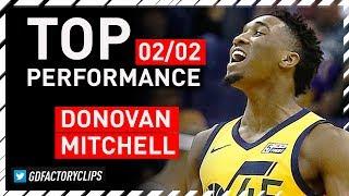 Donovan Mitchell TOP Full Highlights vs Suns - 40 Pts, 6 Ast, 5 Reb | 2018.02.02