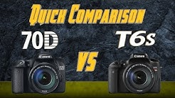 Canon 70D vs Canon T6s - T6i Quick Comparison Training Tutorial Review
