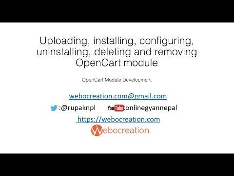 Uploading, installing, configuring, uninstalling OpenCart 3 module/extension