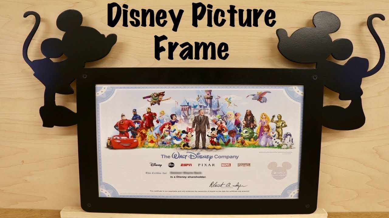 Disney Picture Frame - YouTube