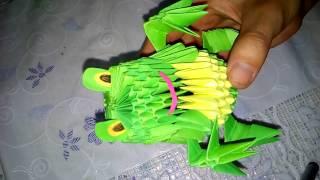 Лягушка  из бумаги своими руками.Оригами(Лягушка как игрушка. Интересная и красивая создаем из бумаги. Оригами., 2016-10-21T14:21:50.000Z)