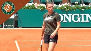 Simona Halep in Practice before the final - Inside RG I Roland-Garros 2018