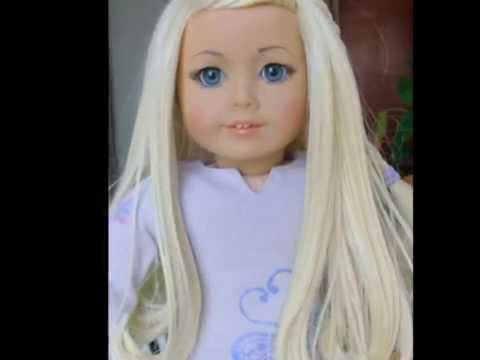 Blonde American Girl doll madeover by Selena  YouTube