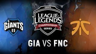 Video GIA vs. FNC - Week 9 Day 1 | EU LCS Spring Split |  Giants Gaming vs. Fnatic (2018) download MP3, 3GP, MP4, WEBM, AVI, FLV Juni 2018