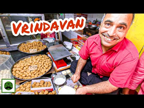 Breakfast at Banke Bihari Temple Market | Mathura Vrindavan Food