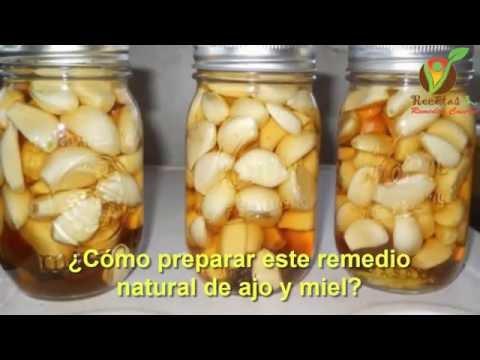 como se prepara ajo con miel