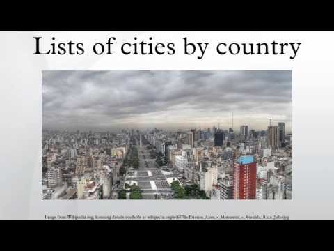 Lists of cities by country