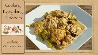 Peppery Chicken and Asparagus Cast Iron Skillet Recipe | Cooking Outdoors | Gary House