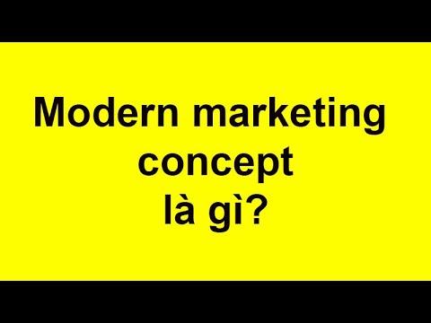 Quan điểm marketing hiện đại (Modern marketing concept) là gì?