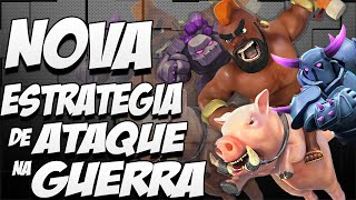 NOVA ESTRATÉGIA DE ATAQUE NA GUERRA - CV8/TH8 - CLASH OF CLANS