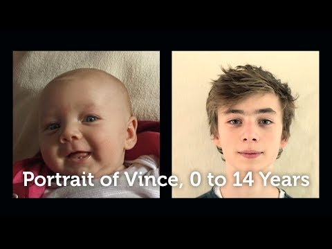 Portrait of Vince, Timelapse 0 to 14 years.