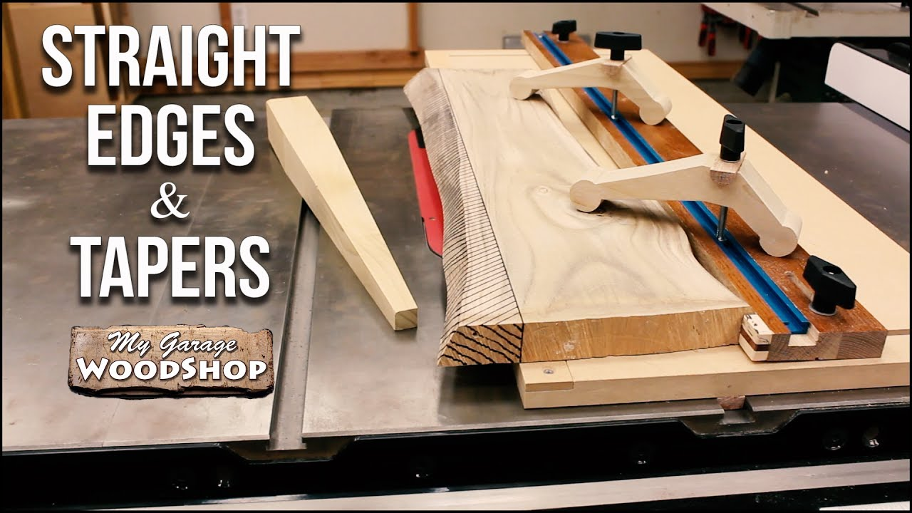 Straight Edges And Tapers On The Table Saw Plans