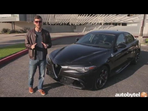 2017 Alfa Romeo Giulia Quadrifoglio Test Drive Video Review - 505 HP Luxury Sedan