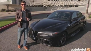 2017 Alfa Romeo Giulia Quadrifoglio Test Drive Video Review - 505 HP Luxury Sedan