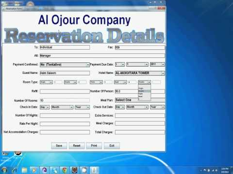 Hotel reservation system java desktop application for Reservation d4hotel