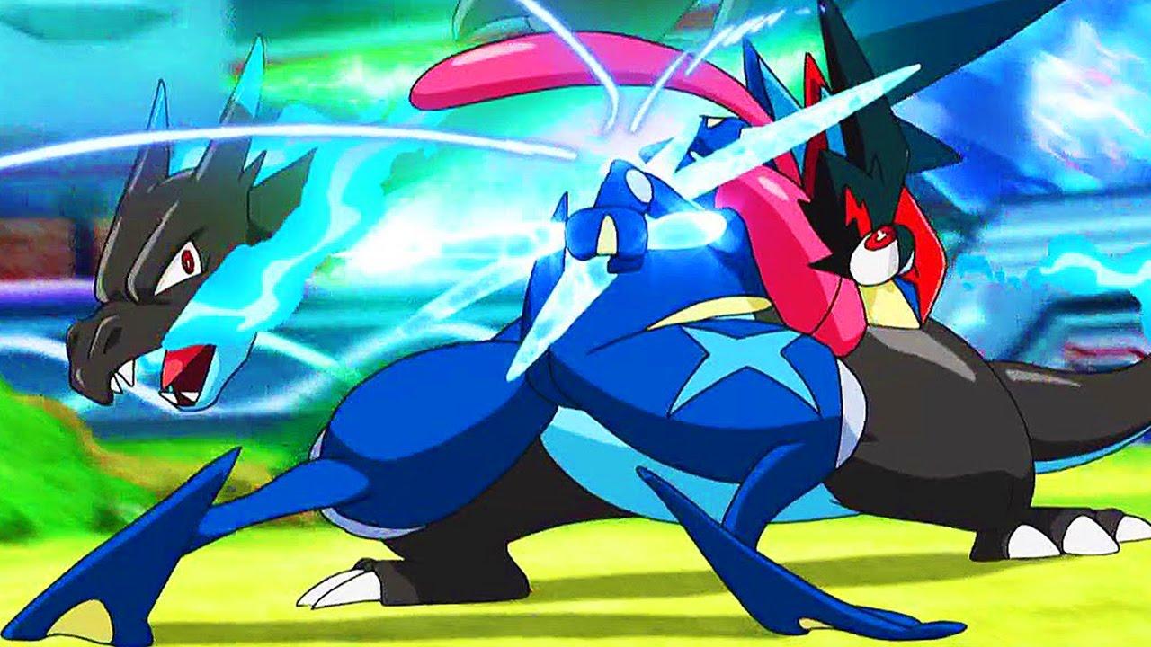 ash vs alain pokemon sun moon theme battle ash greninja vs mega