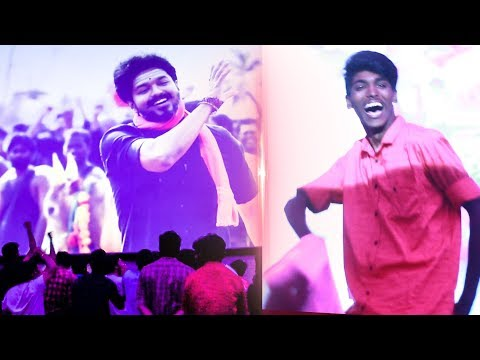 MERSAL Diwali Celebration with Thalapathy Fans @ Rohini Theatre! | Vijay | MY183