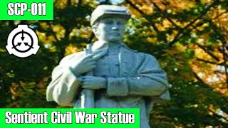SCP-011 Sentient Civil War Memorial Statue | object class: Safe | statue / humanoid scp