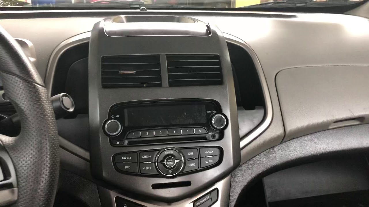 2013 Chevy Sonic Radio Removal Youtube