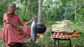 Tuna Fish Noodles - cooking 50 instant noodles in my village by Grandma thumbnail