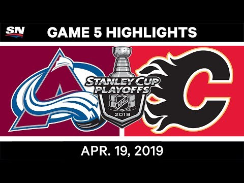 NHL Highlights | Avalanche vs. Flames, Game 5 – April 19, 2019