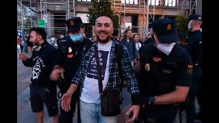 Detenciones caprichosas de manifestantes tras concentración pacífica anti-coronaTUFO en Madrid