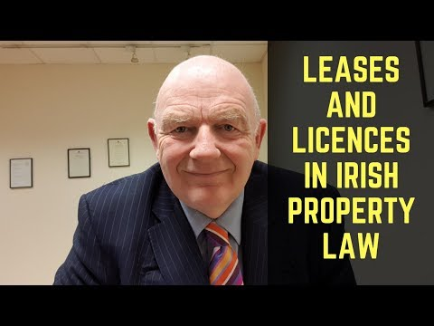 Leases and Licences in Irish Property Law the Essentials