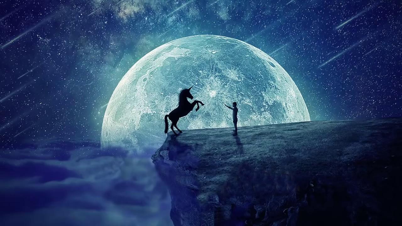 full moon meditation April 2020 (relaxation horses)🐴 - YouTube