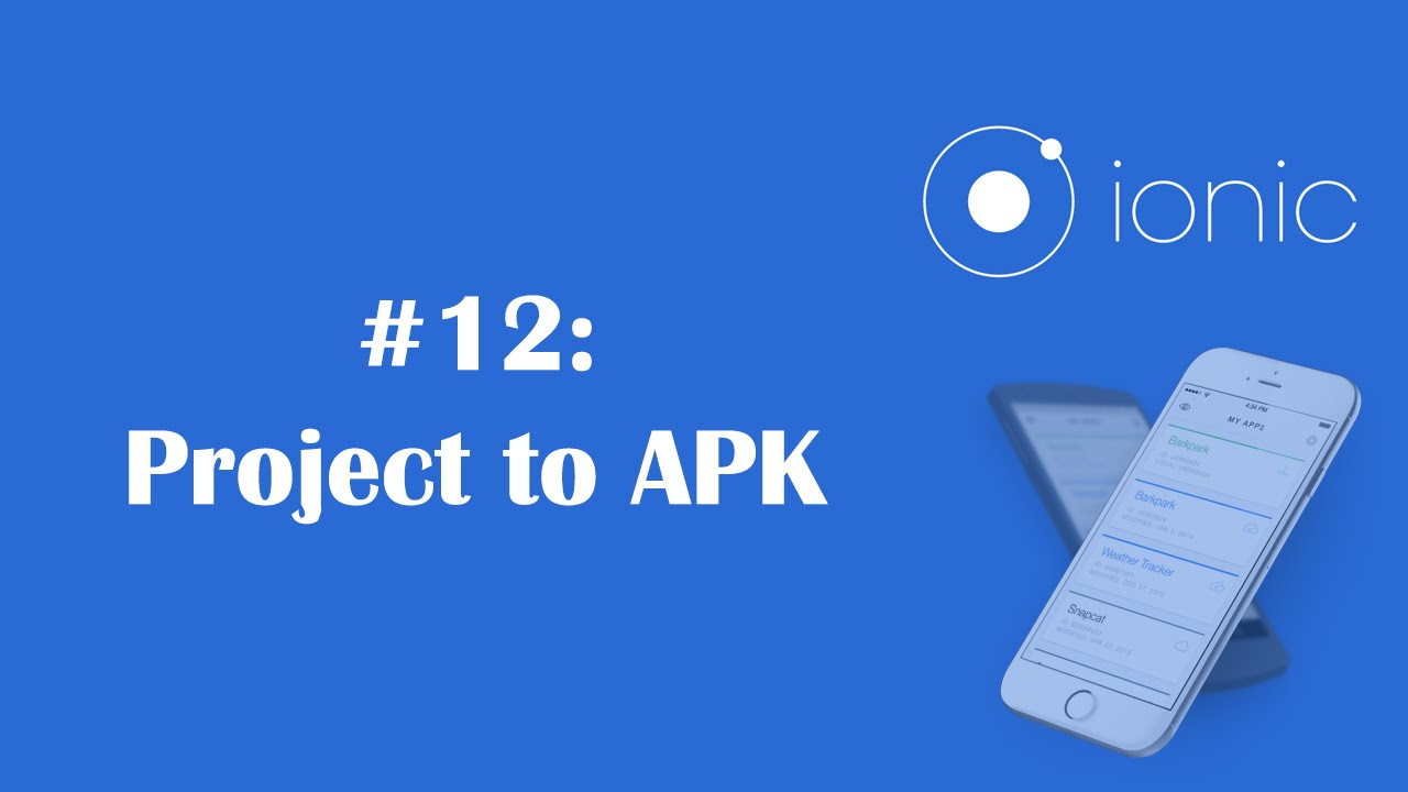how to create apk file from ionic project