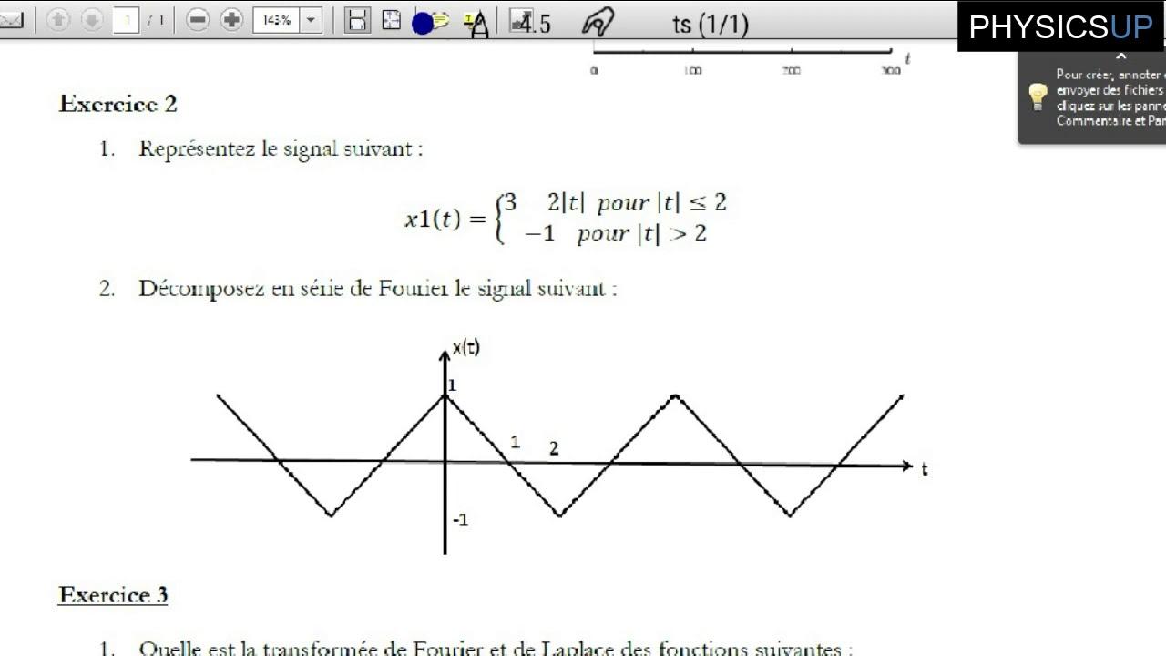 exercice 2 : décomposition d'un signal triangulaire en ...