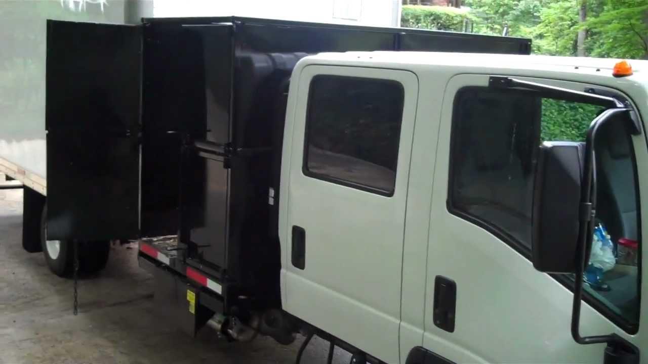Isuzu Lawn Care Crew Cab Debris Dump Van Landscape Box