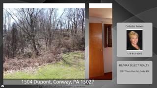 1504 Dupont, Conway, PA 15027