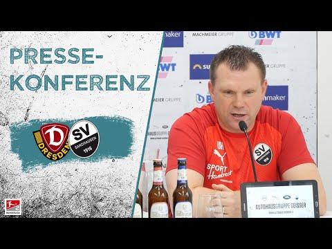 Pressekonferenz   vor dem Spiel   Dynamo Dresden - SV Sandhausen