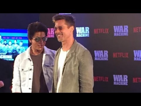 Brad Pitt discusses 'War Machine' with SRK in Mumbai