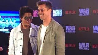 Brad Pitt discusses 'War Machine' with SRK in Mumbai