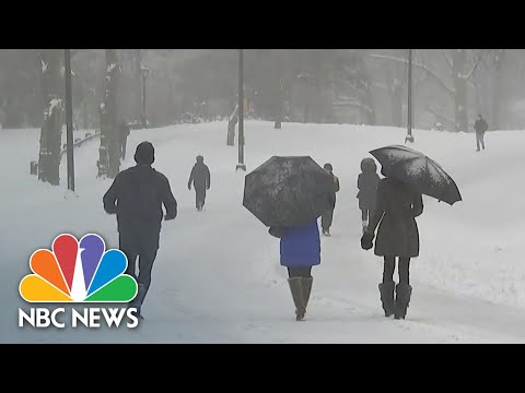 New York Under State Of Emergency Amid First Major Snowstorm Of 2021 | NBC News NOW