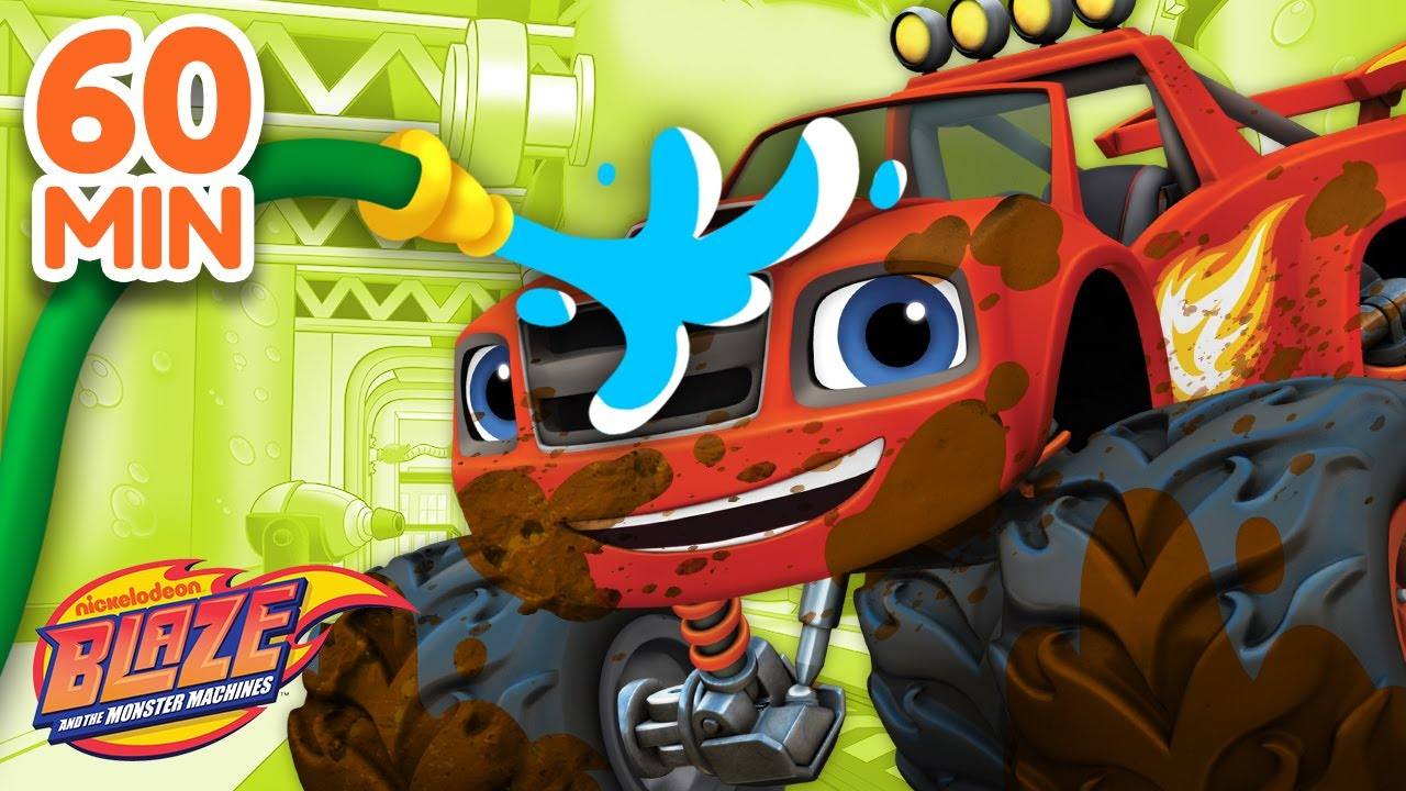 Download The Best Car Wash Surprise Compilation! | 60 Minutes | Blaze and the Monster Machines
