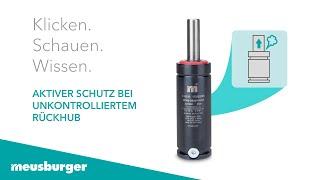 Aktiver Schutz bei unkontrolliertem Rückhub - Gasdruckfedern