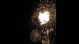 今年のフィナーレの音楽花火は「花燃ゆ」。みんな見てね。