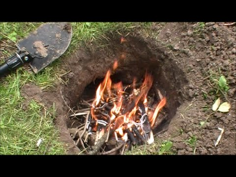 how to write with fire on the ground