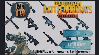 PUBG MOBILE ALL GUNS NAME AND THEIR REAL IMAGES