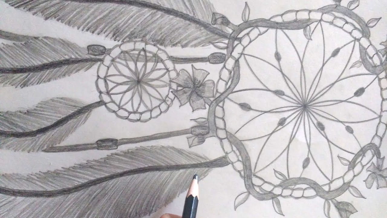 Pencil Sketch Drawing A Dream Catcher Youtube