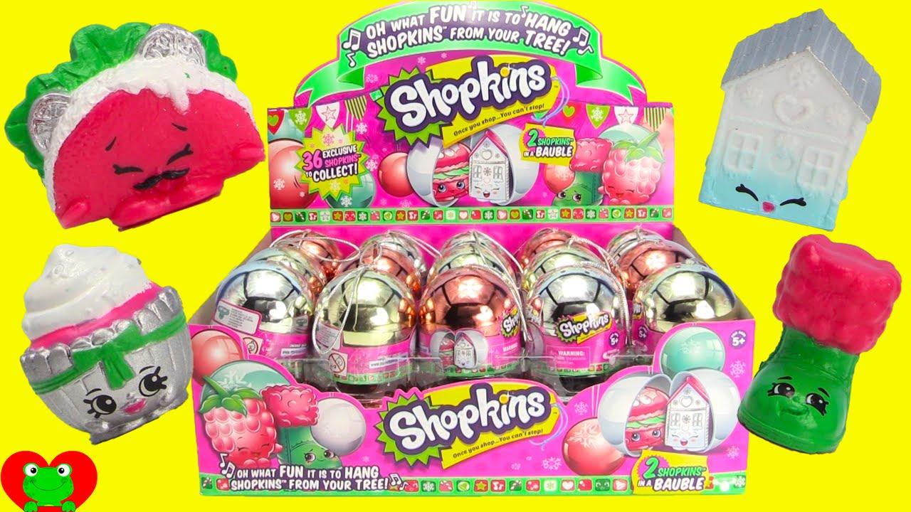 NEW Shopkins Christmas Ornaments EXCLUSIVE Season 3 Bauble ...