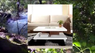 Hanna Stylish Duo-leveled White Finish Coffee Table