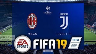 FIFA 19 Beta AC Milan vs Juventus GAMEPLAY